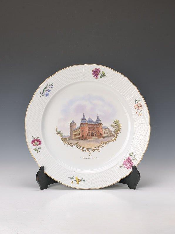 large round platter, Nymphenburg
