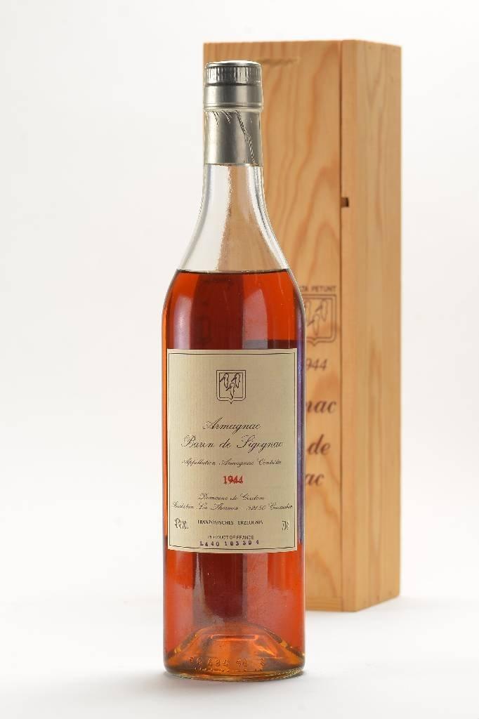 1 bottle of 1944 Armagnac Baron de Sigognac