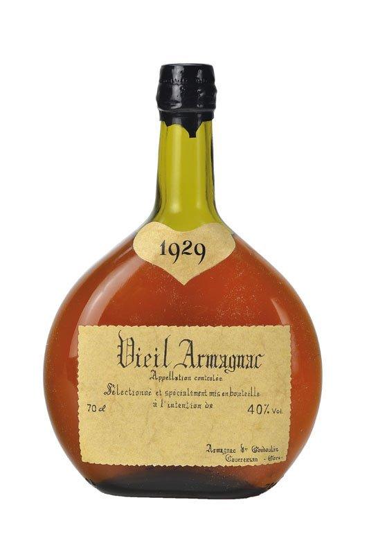 1 bottle of 1929 Armagnac Vieil