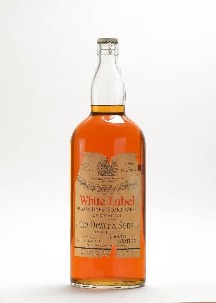 1 large bottle of John Dewar & Sons Ltd. WhiteLabel