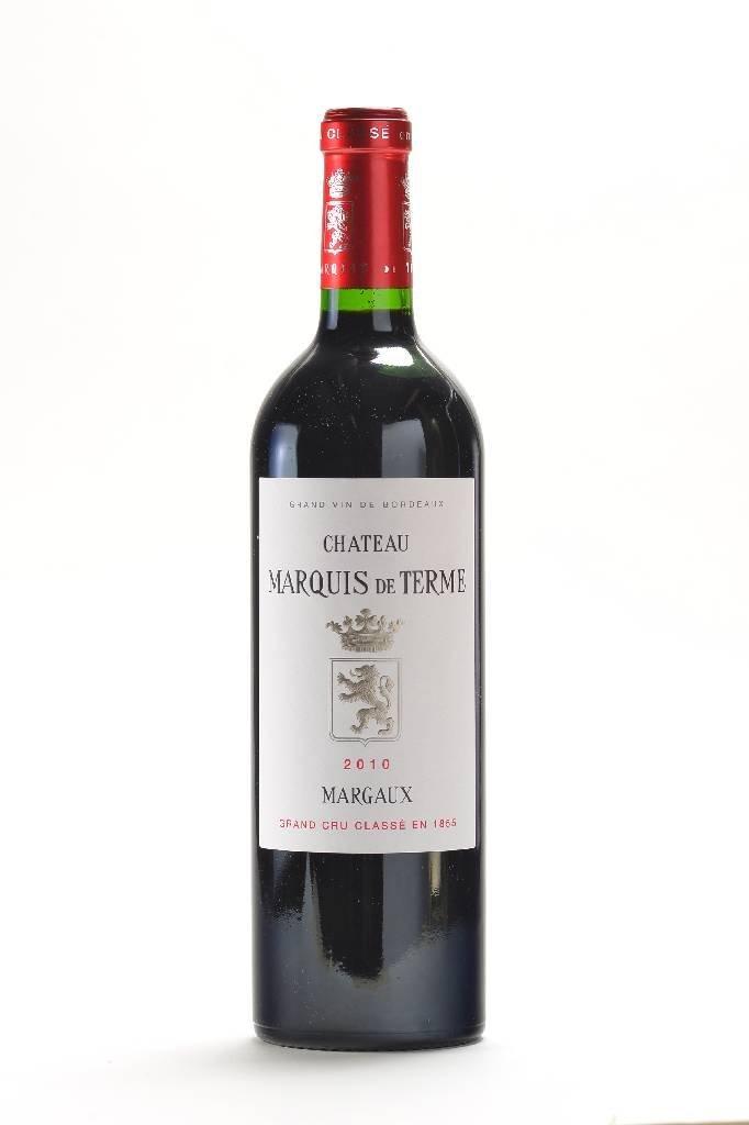 12 bottles of 2010 Chateau Marquis de Terme, Margaux