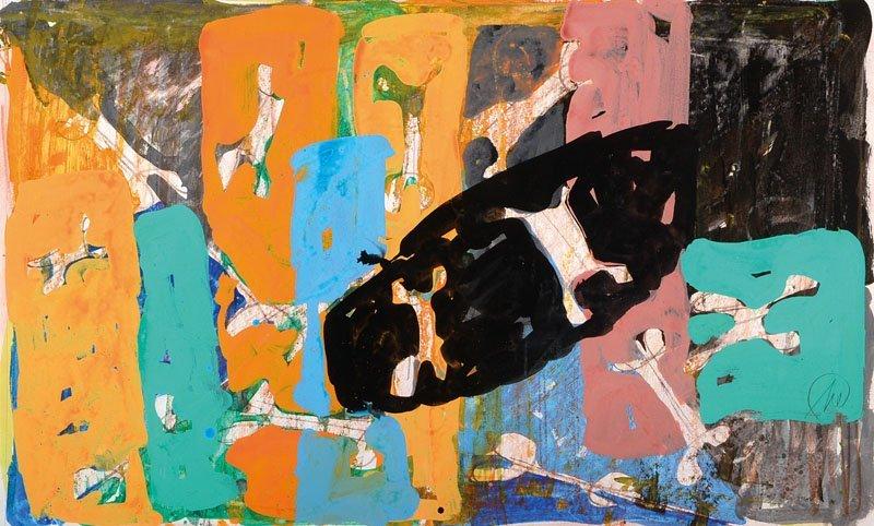 Markus Lpertz, born 1941, mixed media/gouache