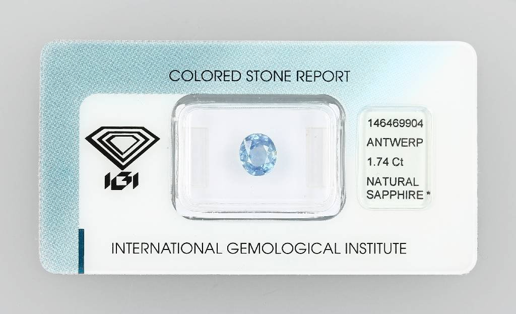 Loose sapphire, 1.74 ct