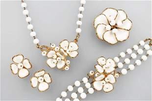 5-piece jewelry set by TRIFARI, 1946/48