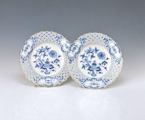 Two Breakthrough Plates, Meissen