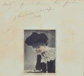 Autograph Of Sarah Bernhardt
