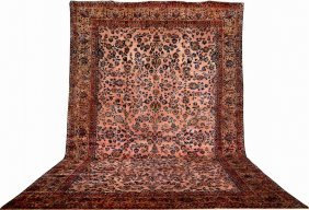 Large Us 'mohajeran' Saruk Carpet,