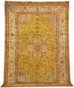 Silk Hereke 'carpet' (signed),