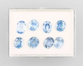 8 Oval Bevelled Sapphires