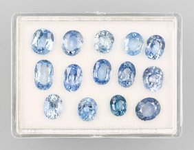 18 Oval Bevelled Sapphires