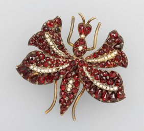 Brooch With Garnets, 'bug' Possibly Bohemia Approx.