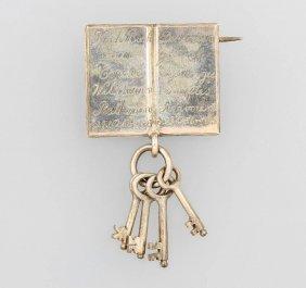 Silver Brooch, Approx. 1848