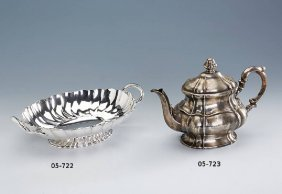 Coffee Pot, Silver 835, German Approx. 1928