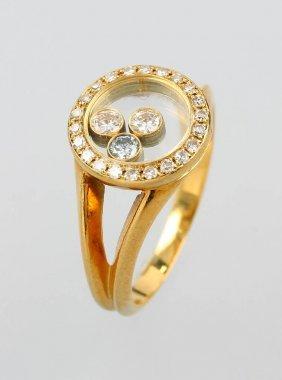 18 Kt Chopard Gold Ring 'happy Diamonds'