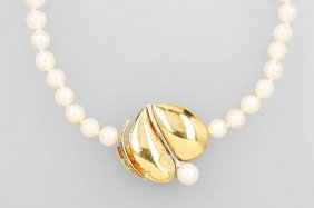 Necklace With Cultured Akoya Pearls