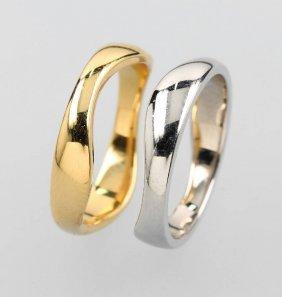 18 Kt Cartier Gold Ringduo
