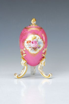 Lidded Vase In Egg Shape, Meissen