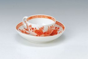 Cup And Saucer, Meissen