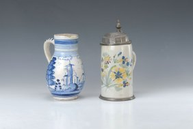 Faience-pot And Pear-shaped Stein