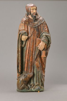 Wall Relief/figure Of A Saint