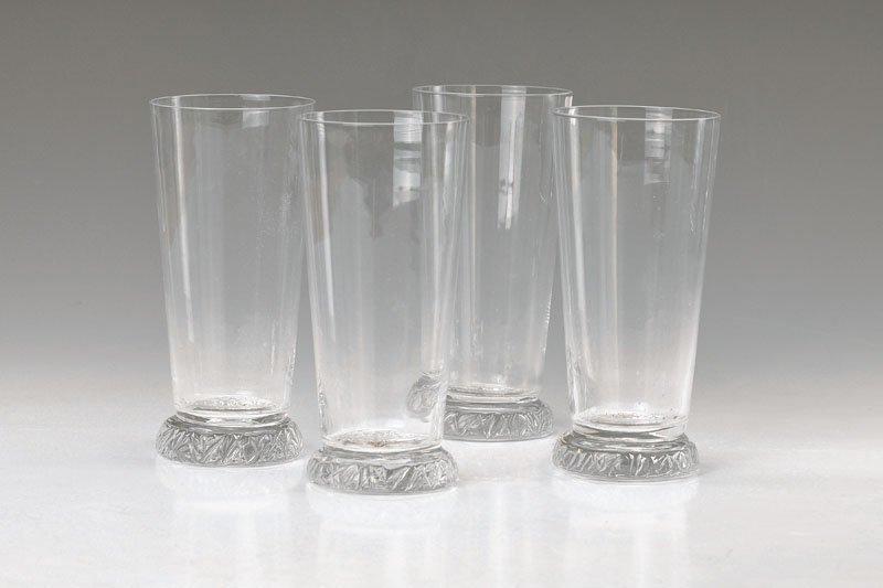 12 water glasses, Daum