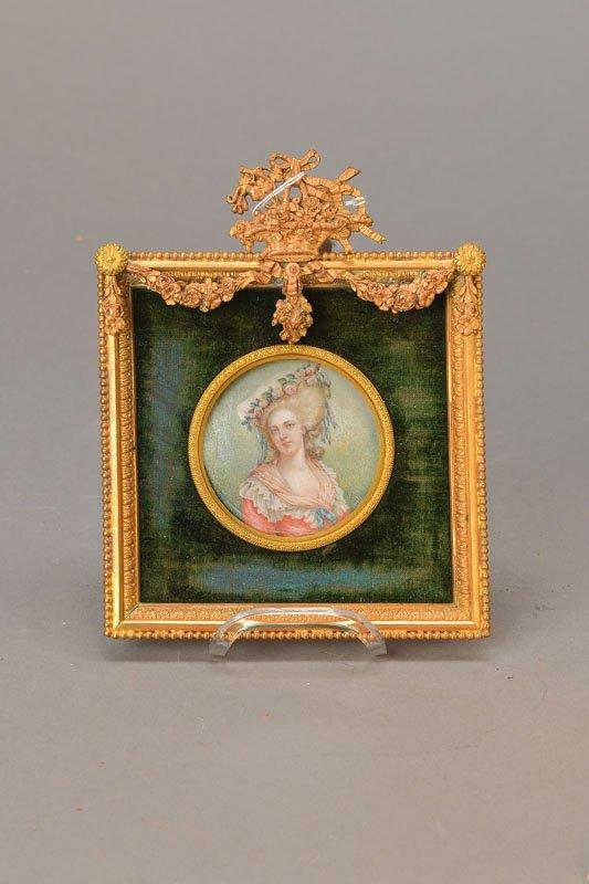 miniature painting on Ivory