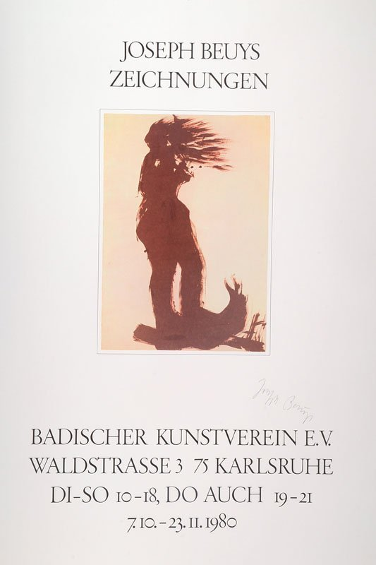 Joseph Beuys, 1921-1986, poster for the exhibition: