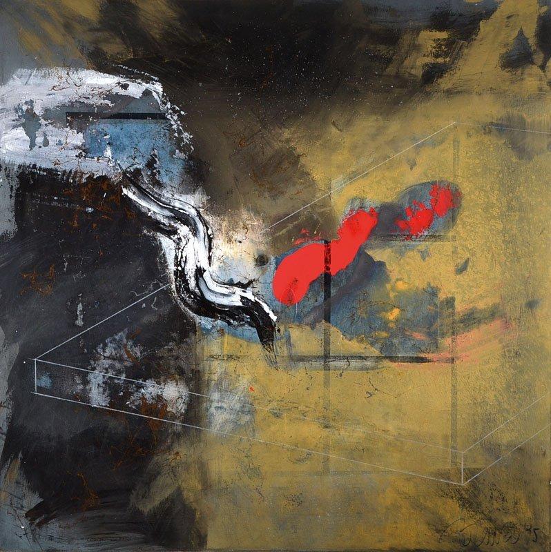 Lorenzo Silvestrini, born 1948 Venedig, acrylic /