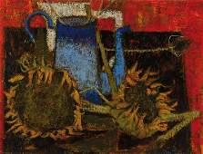 Unknown contemporary artist, oil/canvas, stilllife