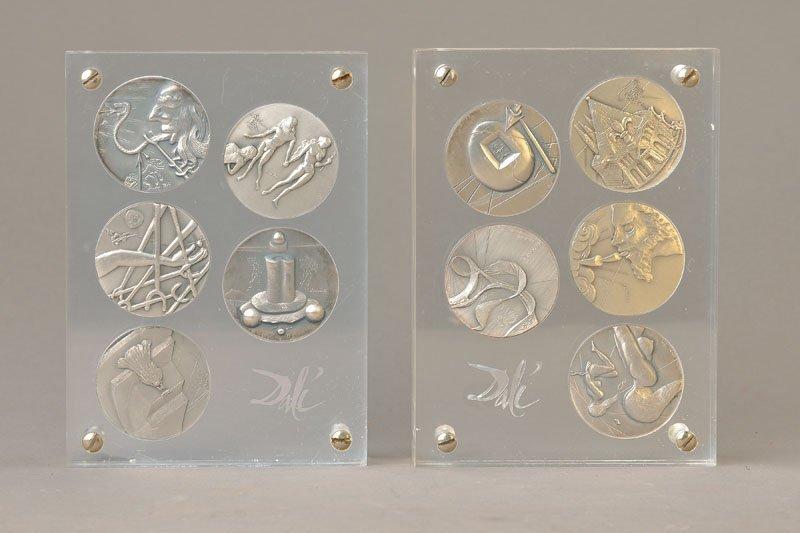 Salvador Dali, 1904-1989, 10 silver medals