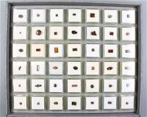 Tray with 42 boxes bevelled andalusites