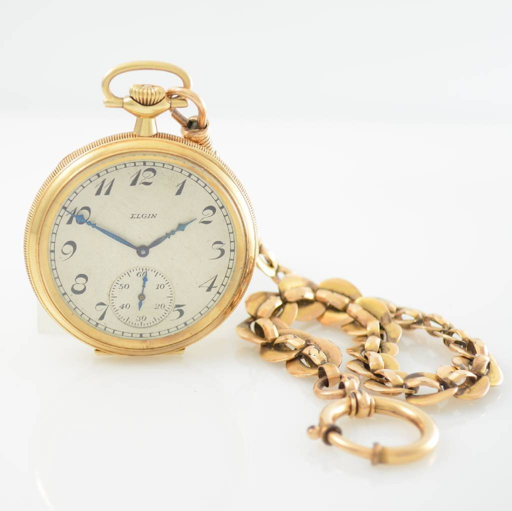 ELGIN National Watch Co. 14k gold pocket watch
