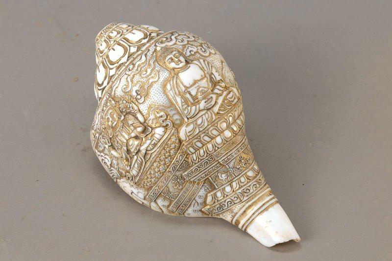 conch horn/temple horn, Tibet