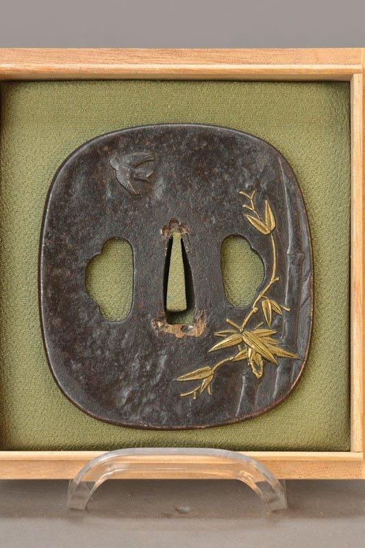 Large iron Tsuba, Edo period