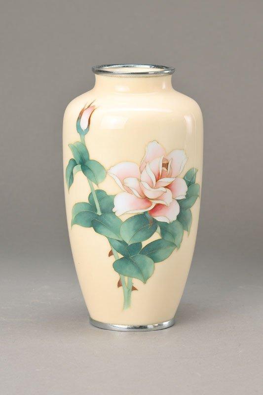 Enamel vase, Japan