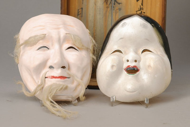 two theater masks, Japan