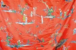 Large silk embroidery, China