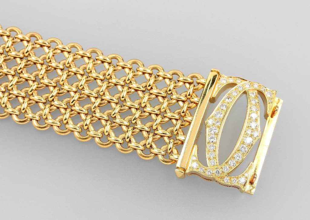 18 kt gold bracelet with brilliants by CARTIER