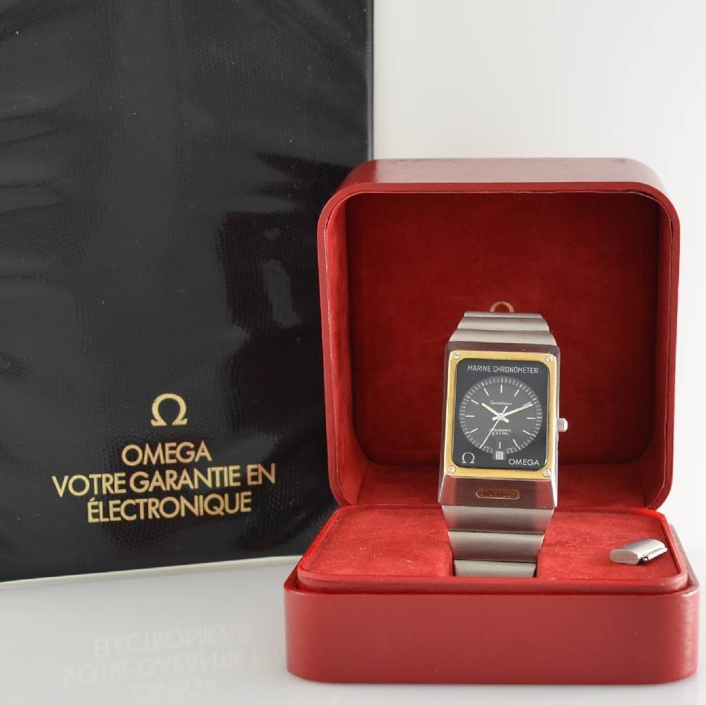 OMEGA marine chronometer gents wristwatch - 6