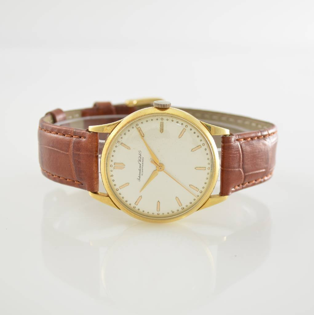 IWC 18k yellow gold gents wristwatch
