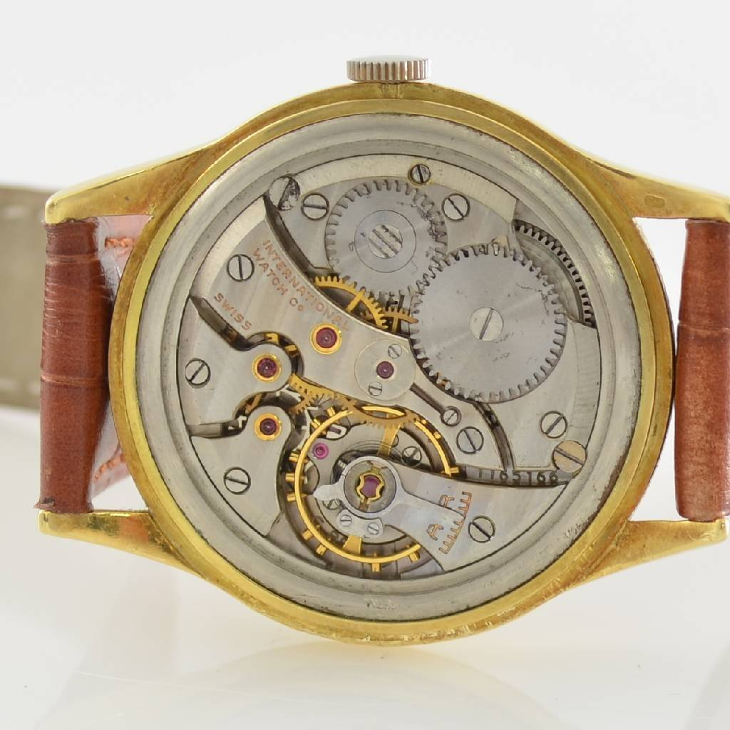IWC 18k yellow gold gents wristwatch - 4