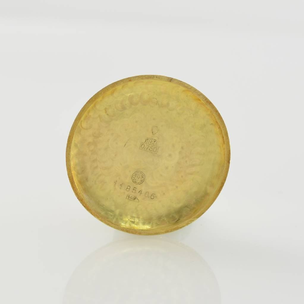 IWC 18k yellow gold gents wristwatch - 5