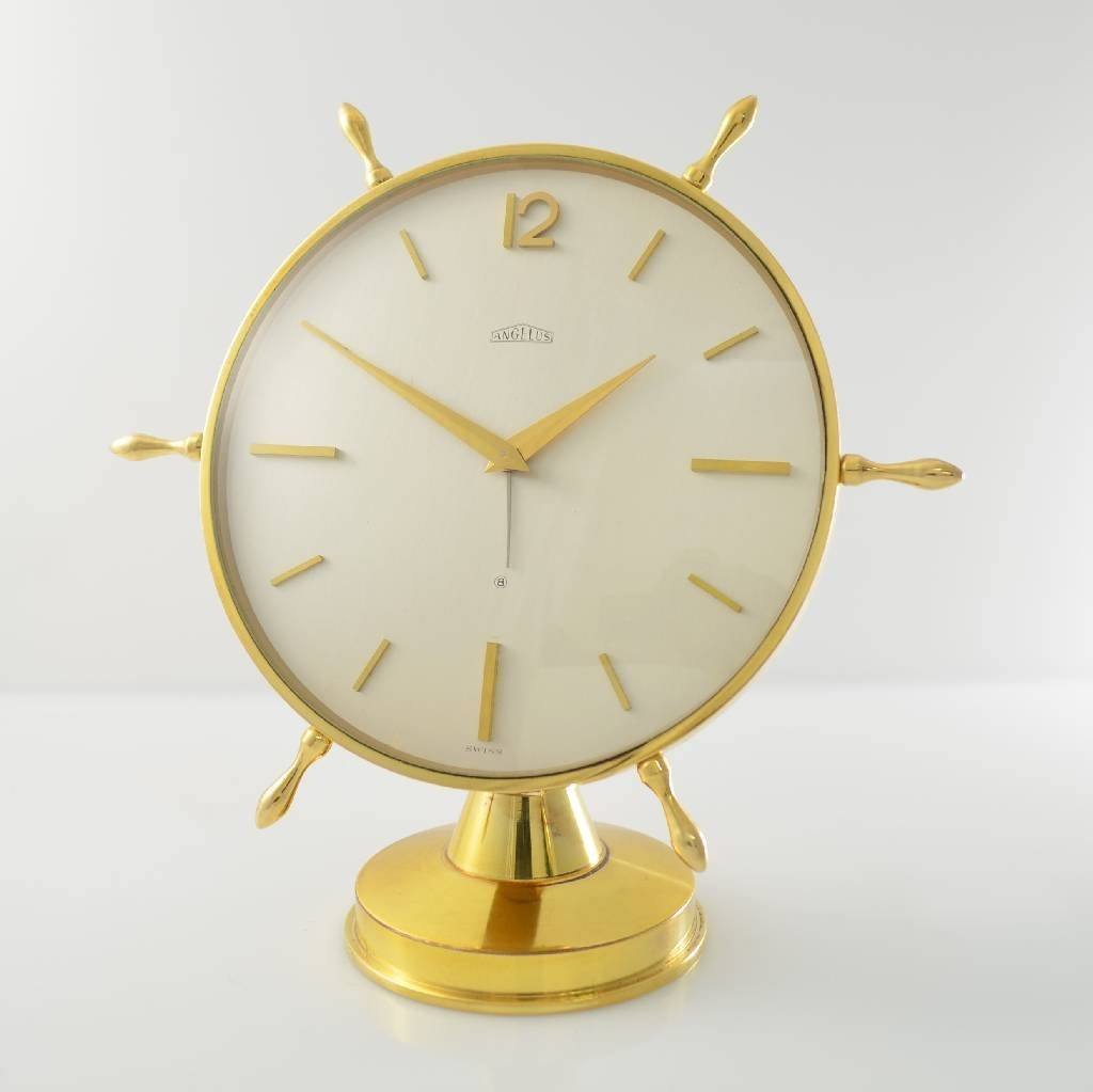 ANGELUS table alarm clock with 8-days movement