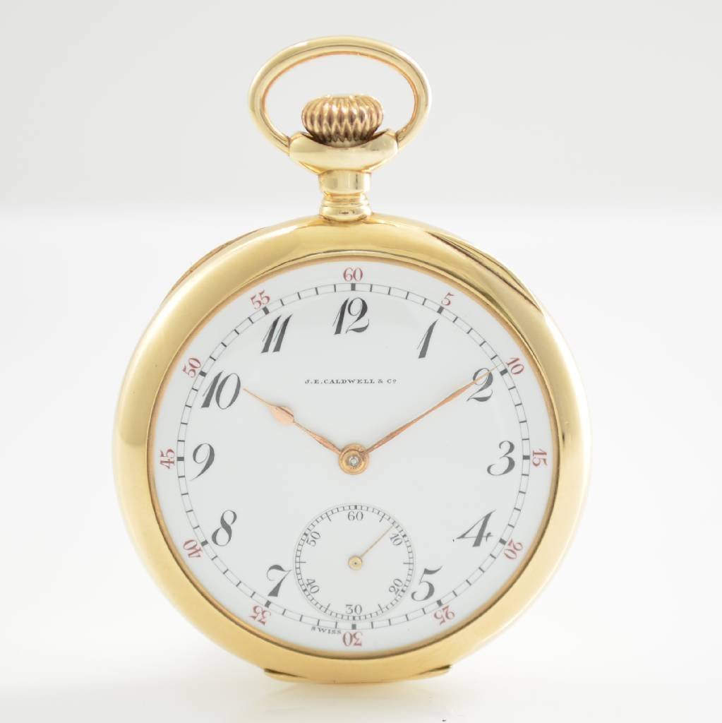 VACHERON & CONSTANTIN open face 14k gold pocket watch