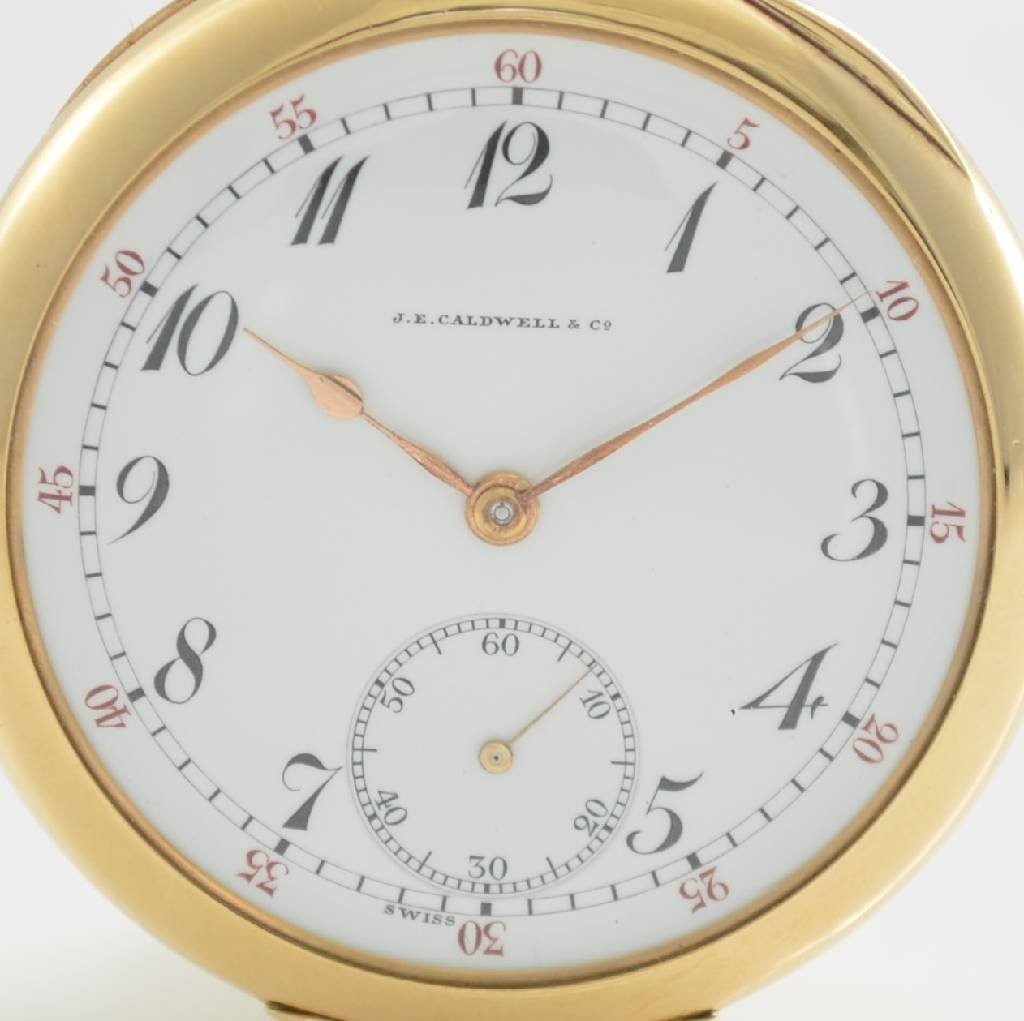 VACHERON & CONSTANTIN open face 14k gold pocket watch - 2