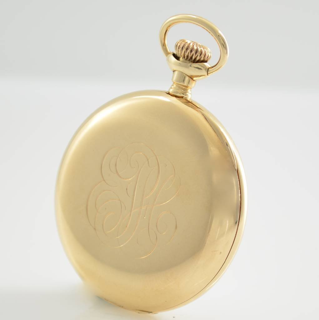 VACHERON & CONSTANTIN open face 14k gold pocket watch - 3