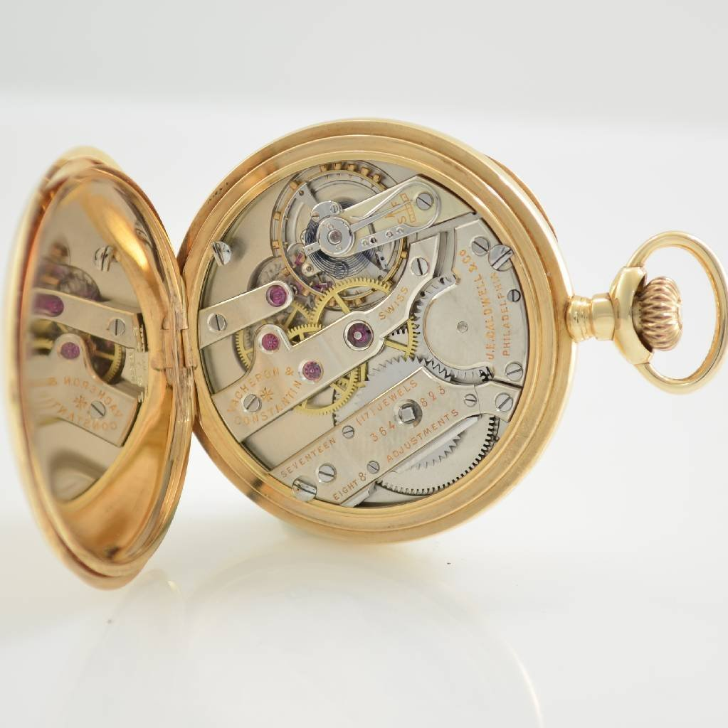 VACHERON & CONSTANTIN open face 14k gold pocket watch - 6
