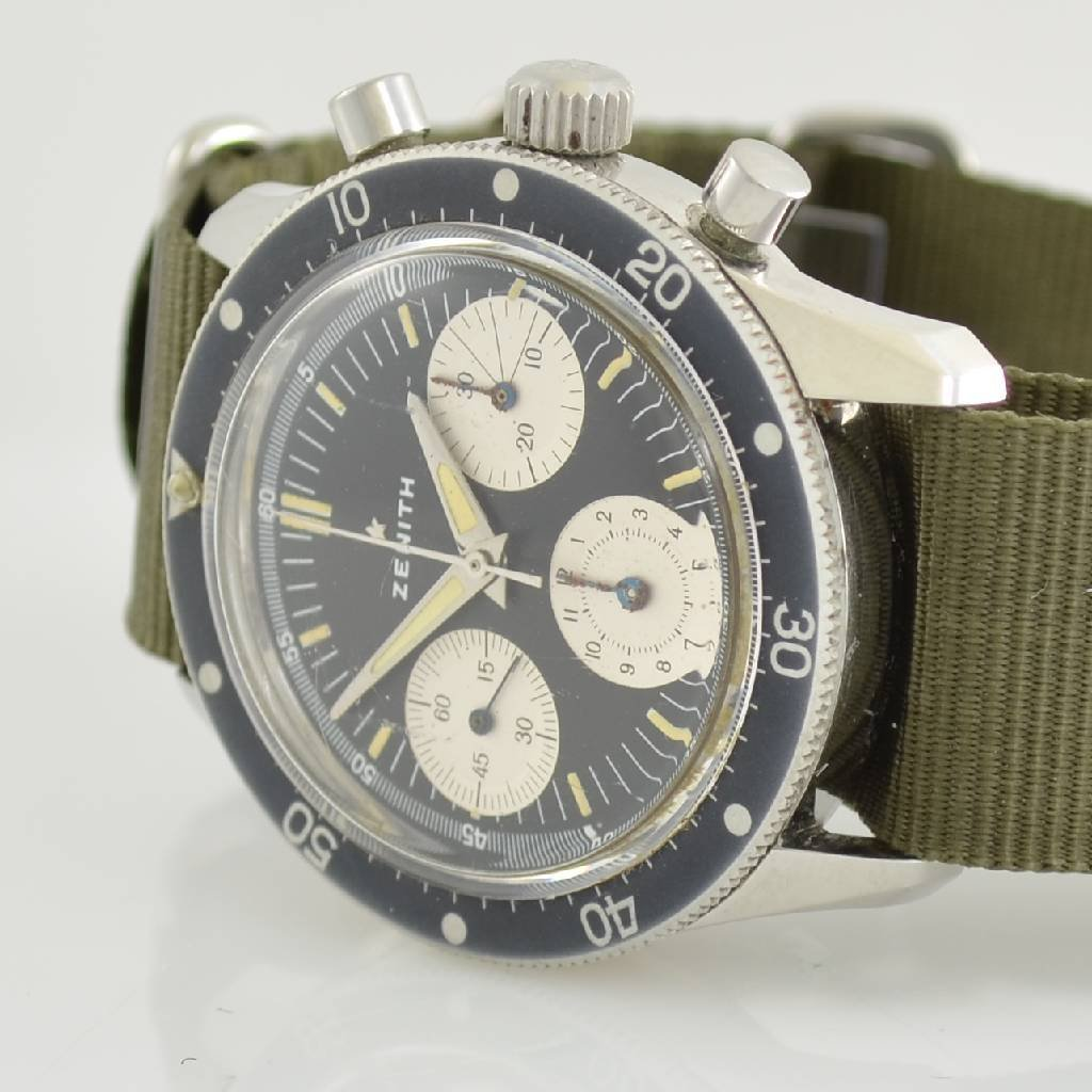 ZENITH rare intermediate wheel chronograph - 3