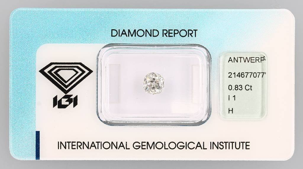 Brilliant 0.83 ct Wesselton (H)/p1