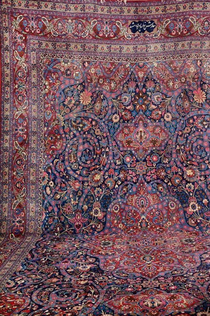 Large Mashad Carpet (Signed),